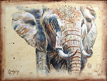 Close Encounter sketch - Elephant by Gregory Wellman