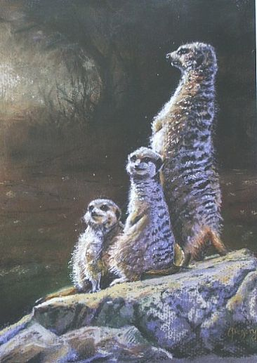 The Morning Shift - Meerkats by Gregory Wellman
