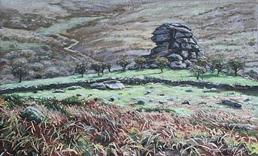 Vixen Tor - One of the many famous granite outcrops on Dartmoor by Gregory Wellman