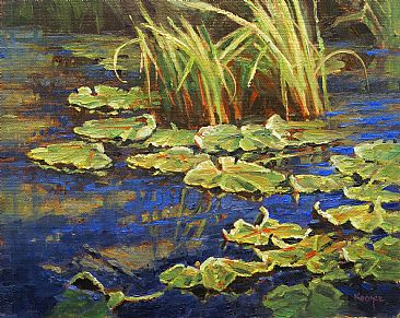Aging lilies - Water Lillies by Jack Koonce