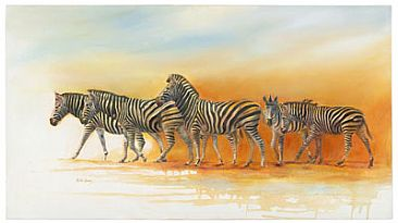 After the Rains - landscape zebra by Linda Lemon