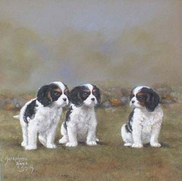 Puppies Painting Art By Josephine Smith