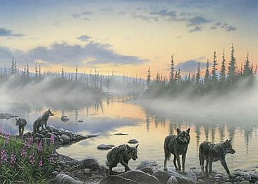 Wolves -  by Hans Kappel