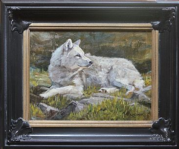 A New Era- Arctic Wolf - Arctic Wolf by Leslie Kirchner