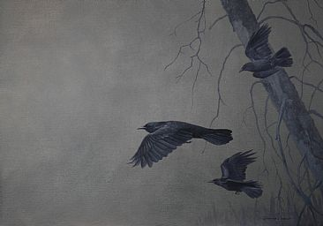 The Spirit Guides - American crows by Ray Easton