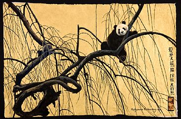 China Gold - Giant Panda by Pollyanna Pickering