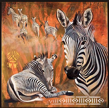 The Family - Zebras by Pollyanna Pickering