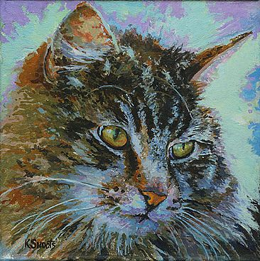 Ocean Spray - Domestic Tabby by Karin Snoots