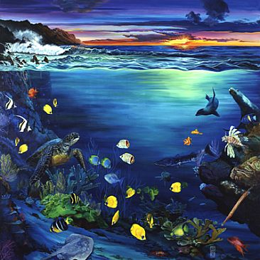 Artwork by karin snoots seascapes and wildlife for Sea life paintings artists