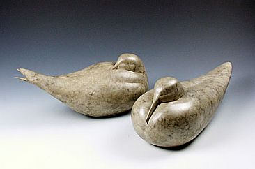 Nesting Pair - Birds by Victoria Parsons