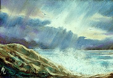 Storm Over The Atlantic - A stormy day in Shetland by Anne Barron