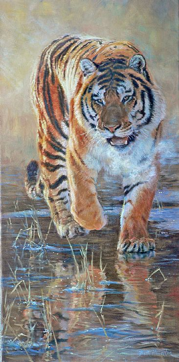 Ice King - Siberian tiger (sold) by Beth Hoselton