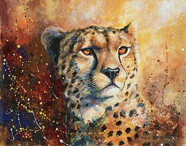 Cheetah 2015 - African Wildlife by Peter Blackwell