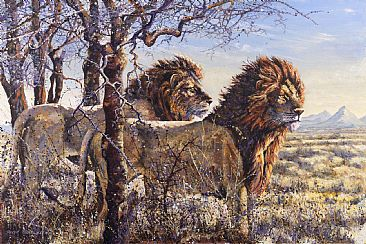 Something on the Wind - African Wildlife by Peter Blackwell