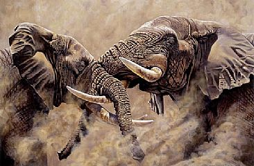 The Challenge - African Wildlife by Peter Blackwell