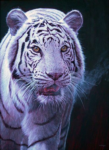 White Tiger Painting Acrylic