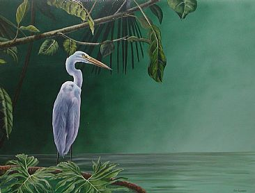Great Egret - Great Egret by Emily Lozeron