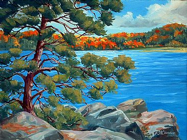 Landscape Painting Art By Rosemarie Condon
