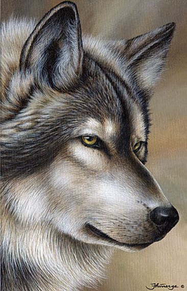 Ladykiller (Sold)  - Wolf by Claude Thivierge