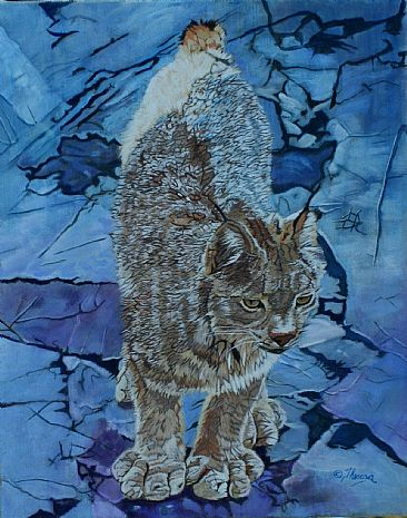 Paws on Crack - Canadian lynx by Theresa Eichler