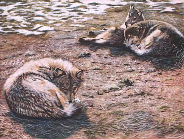 Two's Company - wolves by Theresa Eichler