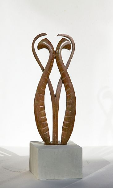 Feather form - Sculpture based on Lyrebird. by Martin Hayward-Harris