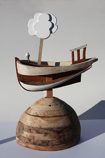 All at Sea - Conceptual automaton with an Ecological message by Martin Hayward-Harris