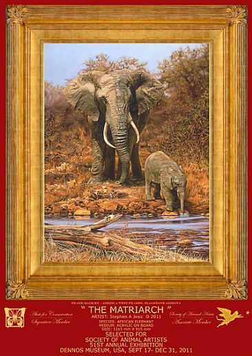 THE MATRIARCH - AFRICAN ELEPHANT by Stephen Jesic