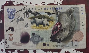 RP 2011 00448AC - rhinos poached in 2011, 448 and counting - White Rhinoceros by Dolfi Stoki