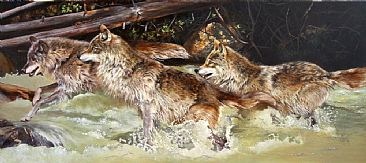 Crossing - Wolves by Julia Hargreaves
