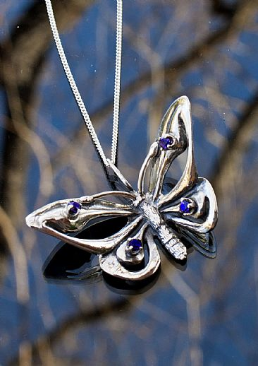 Butterfly Pendant - Butterfly by Rick Geib