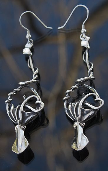 Squid lover earrings - marine life by Rick Geib