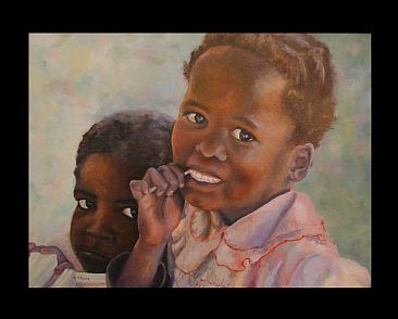 First Taste - Namibian girls by Michelle McCune