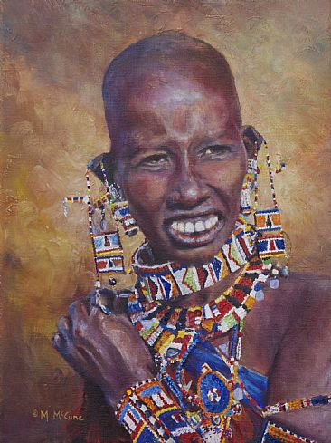 Ready to Wed - Masaai woman by Michelle McCune