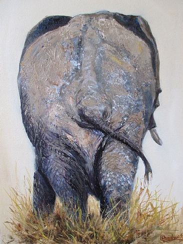 The end - African elephant by Gloria Chadwick