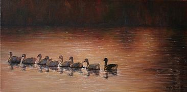 Guided Tour - Snow Geese - Birds by Wendy Palmer