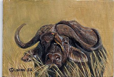 Water buffalo (sold) -  by LaVerne Hill