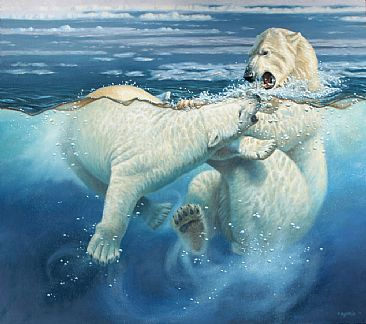 Polar Play - polar bear by Cynthie Fisher