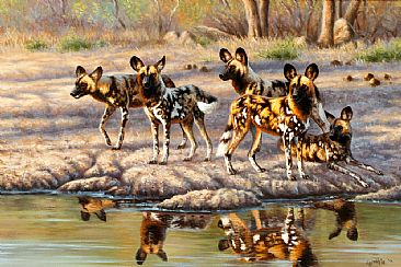 Time To Hunt - wild dogs by Cynthie Fisher
