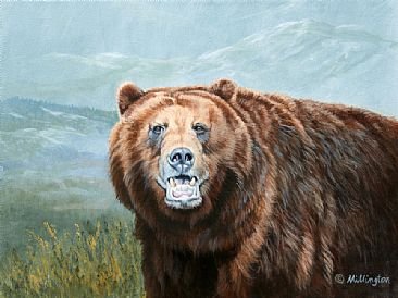 Attitude - Brown Bear (Grizzly) by Marti Millington