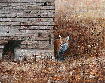 Cautious Approach (SOLD) - Red Fox by Marti Millington