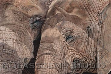 BFF's - Save the Elephants - African Elephants by Gemma Gylling