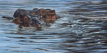 10 or 20 Hippos - Hippos by Cindy Sorley-Keichinger