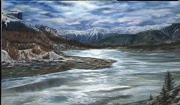 Spring is Here...Maybe? - mountain river by Cindy Sorley-Keichinger