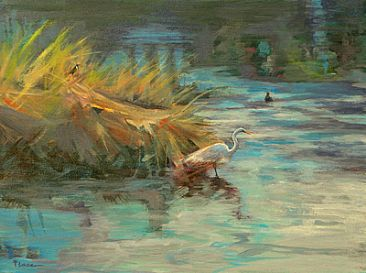 Evening Pleasures - Evening wetland scene in Naples, FL by Sandra Place