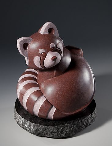 Endangered Species Red Panda Sculpture Art By Ellen
