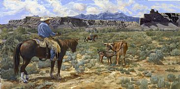 Nursery Intrusion  - Western Landscape by Taylor White