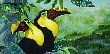 Chestnut-Mandibled Toucans - Chestnut-Mandibled Toucans by Jason Kamin