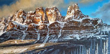 Castle Mountain - Banff national Park - Mountain Landscape by Jason Kamin