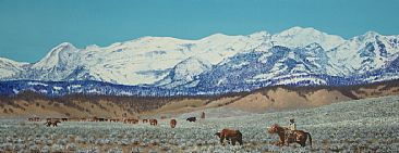 Wyoming Range - Wyoming Range - Western Roundup by Jason Kamin